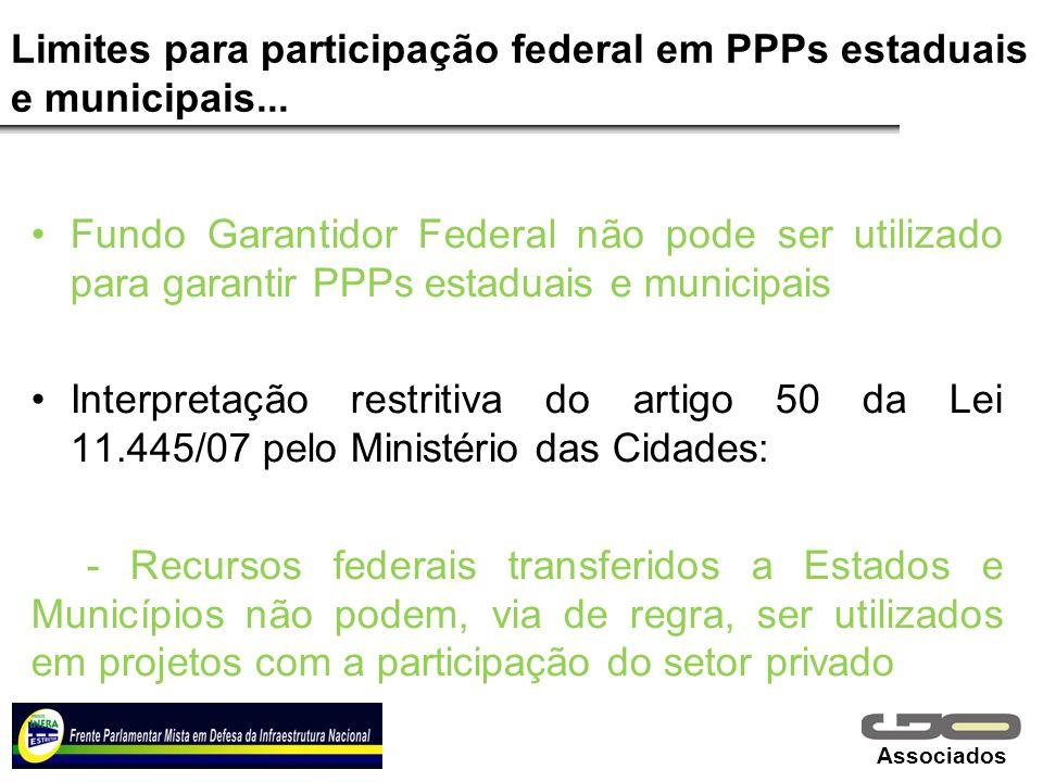 Limites para participação federal em PPPs estaduais e municipais...