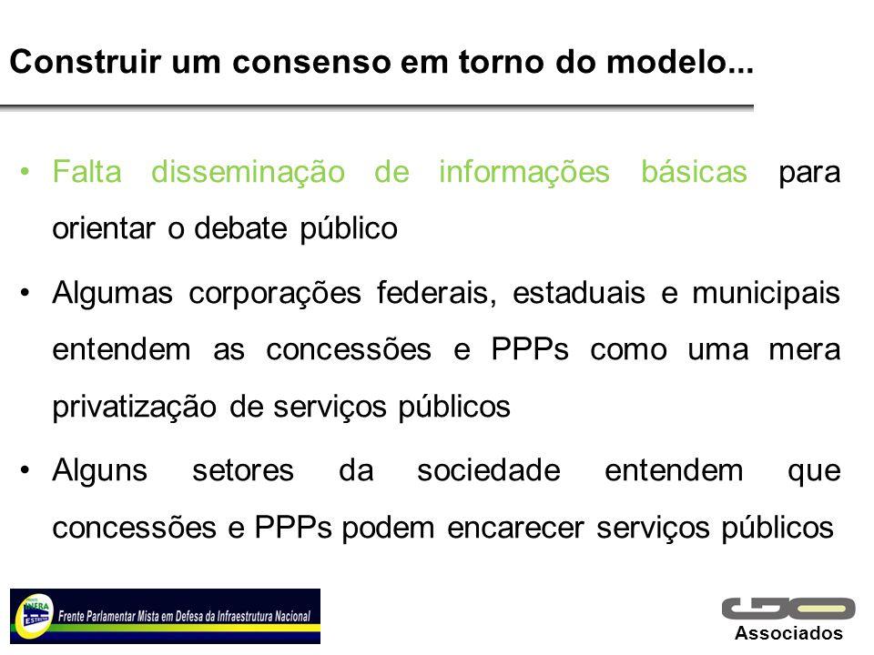 Construir um consenso em torno do modelo...