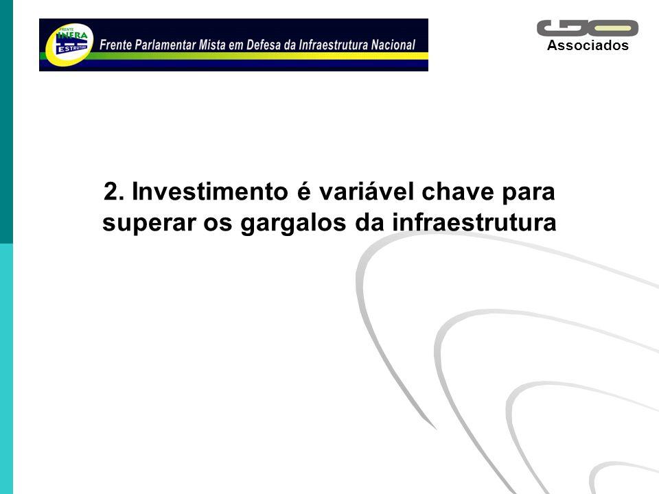 2. Investimento é variável chave para superar os gargalos da infraestrutura