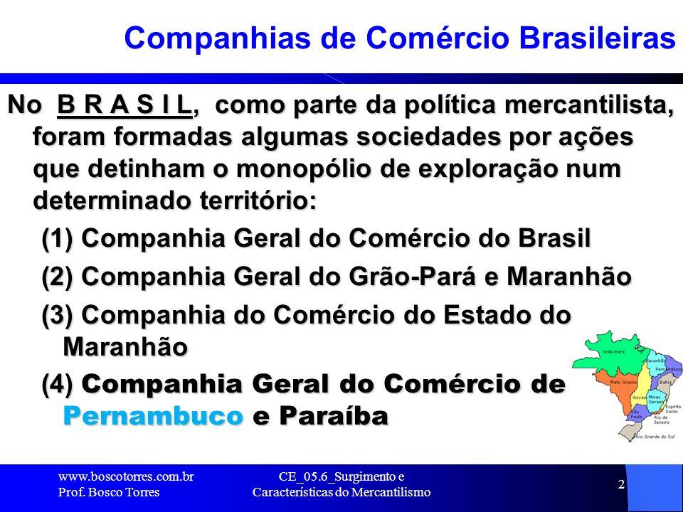 Companhias de Comércio Brasileiras
