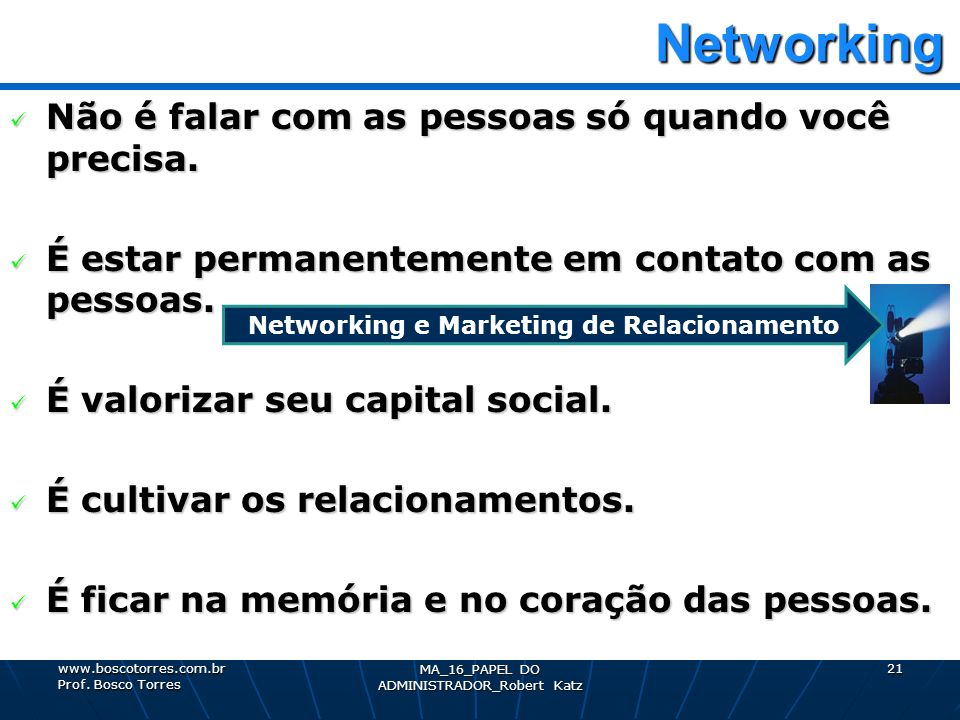 Networking e Marketing de Relacionamento