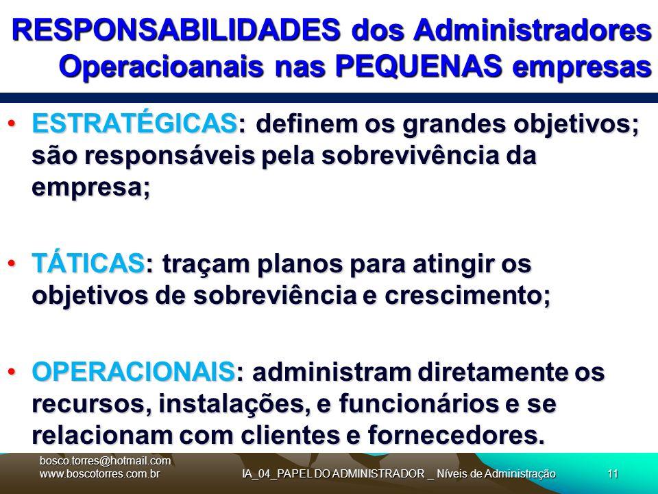 IA_04_PAPEL DO ADMINISTRADOR _ Níveis de Administração