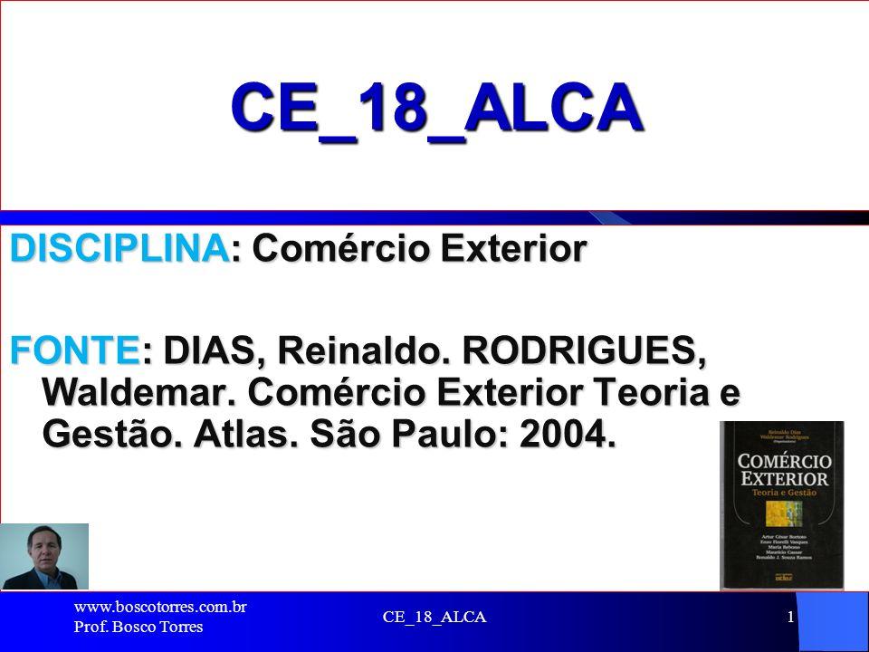 CE_18_ALCA DISCIPLINA: Comércio Exterior