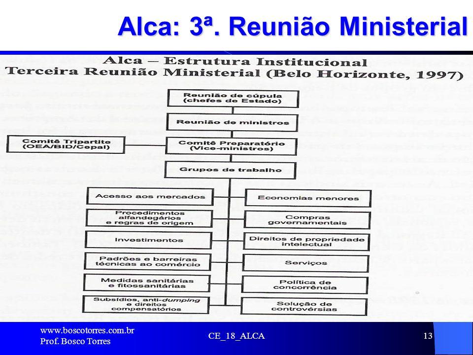 Alca: 3ª. Reunião Ministerial