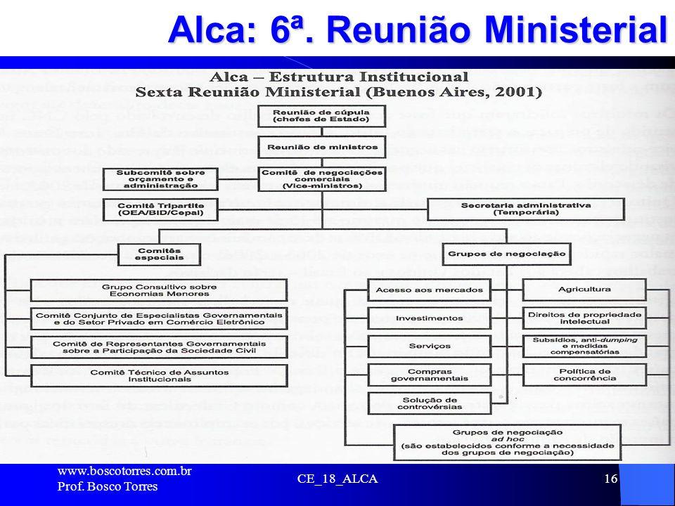 Alca: 6ª. Reunião Ministerial