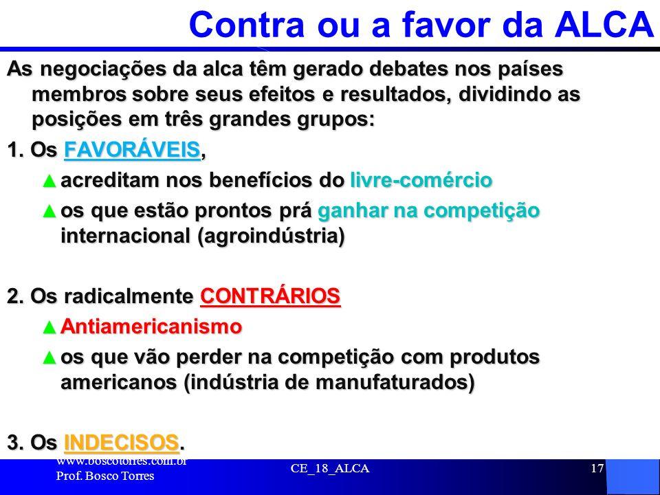 Contra ou a favor da ALCA