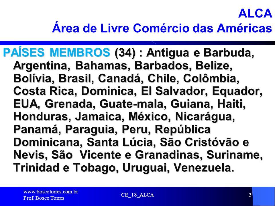 ALCA Área de Livre Comércio das Américas