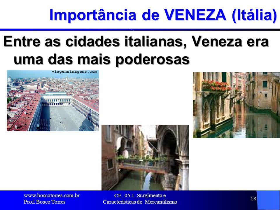 Importância de VENEZA (Itália)