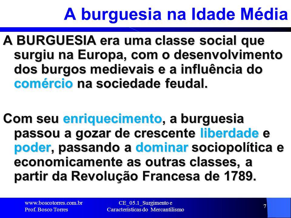A burguesia na Idade Média