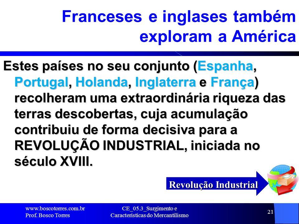 Franceses e inglases também exploram a América