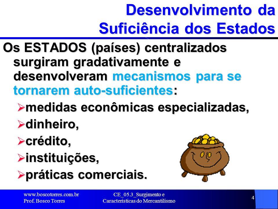 Desenvolvimento da Suficiência dos Estados