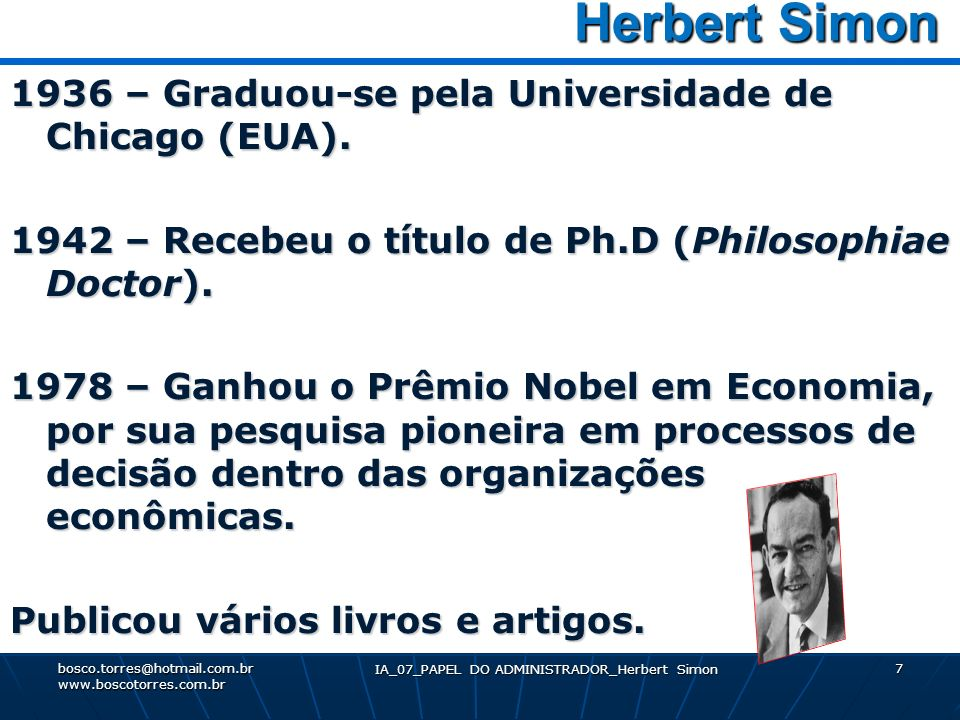 IA_07_PAPEL DO ADMINISTRADOR_Herbert Simon
