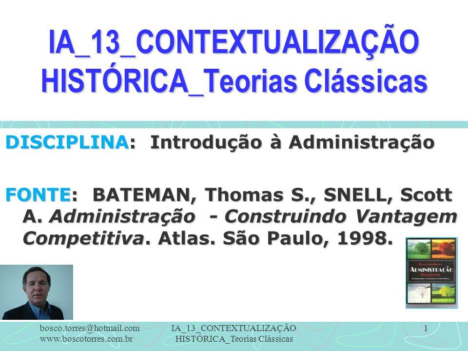 IA_13_CONTEXTUALIZAÇÃO HISTÓRICA_Teorias Clássicas