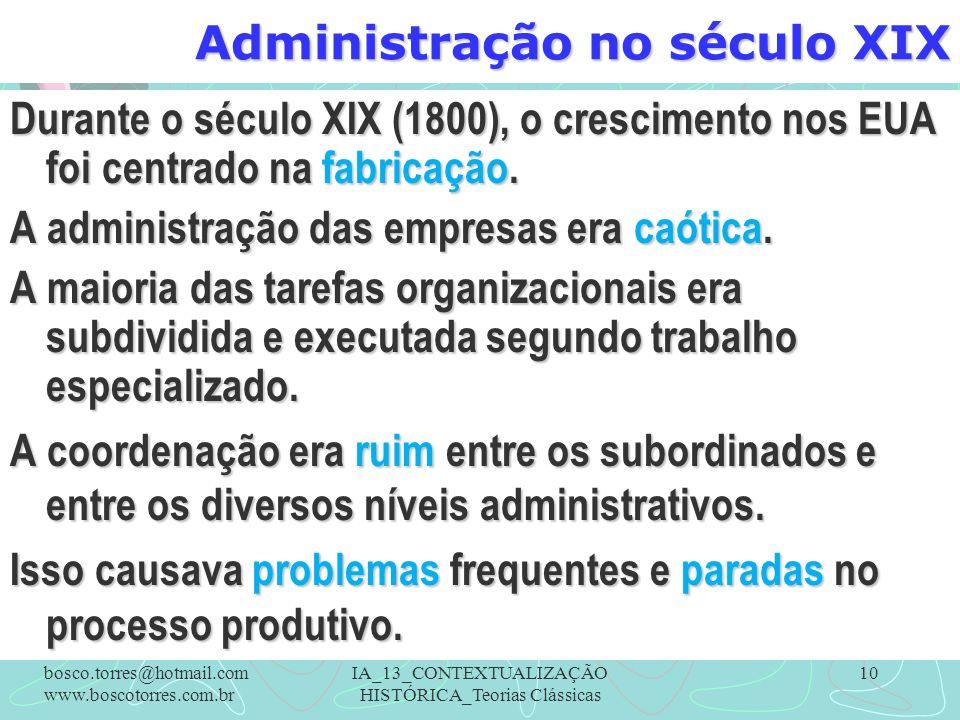 Administração no século XIX