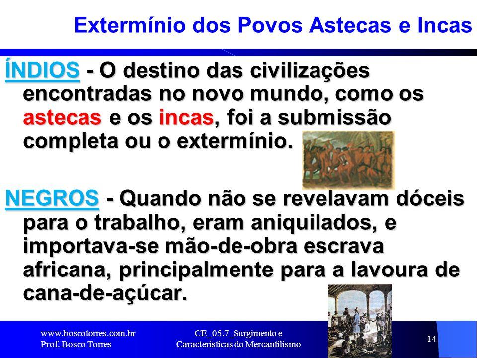 Extermínio dos Povos Astecas e Incas