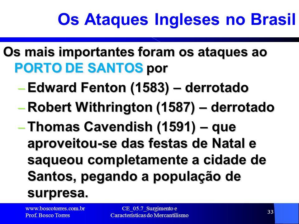 Os Ataques Ingleses no Brasil