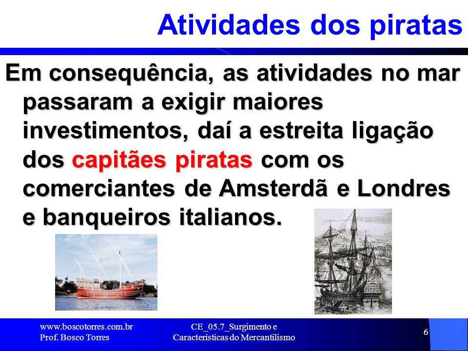 Atividades dos piratas