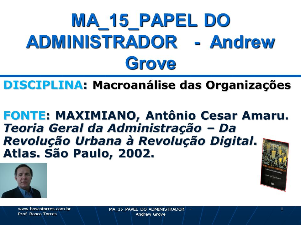 MA_15_PAPEL DO ADMINISTRADOR - Andrew Grove