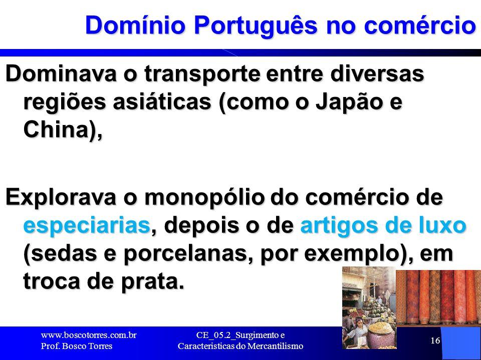 Domínio Português no comércio