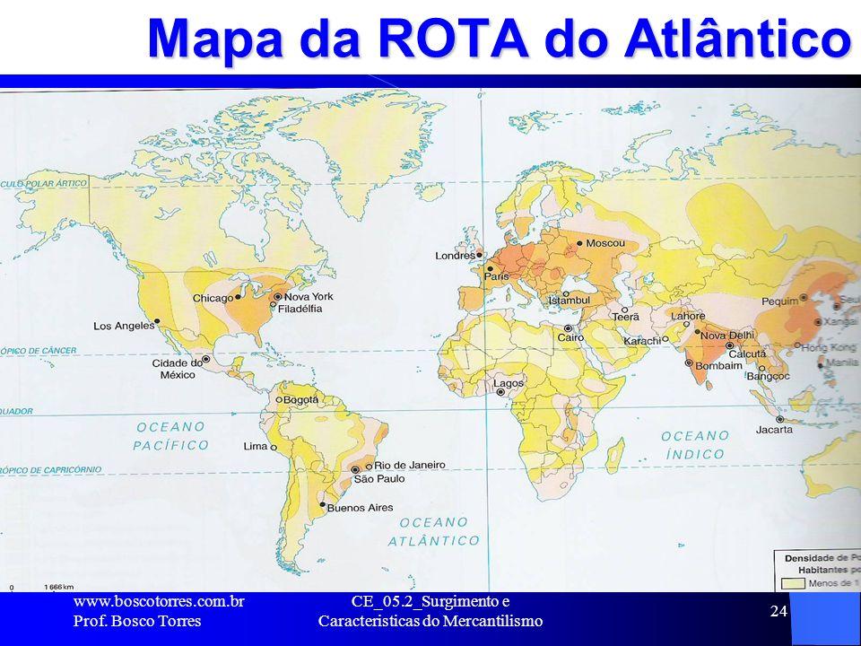 Mapa da ROTA do Atlântico