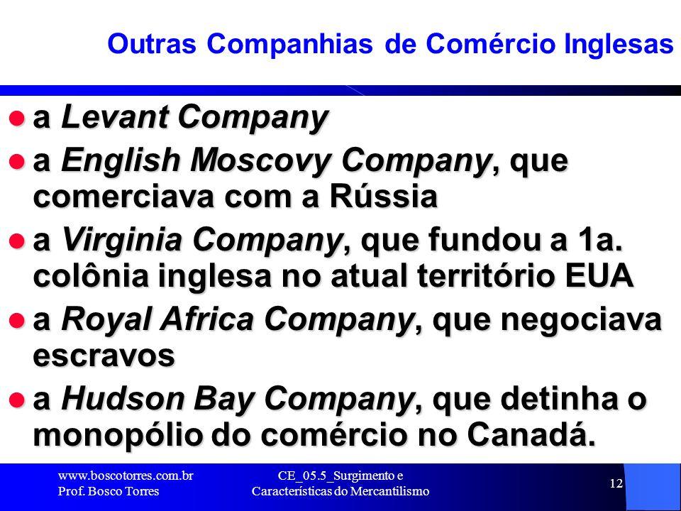 Outras Companhias de Comércio Inglesas