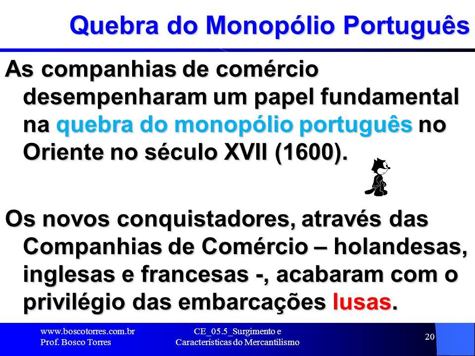 Quebra do Monopólio Português