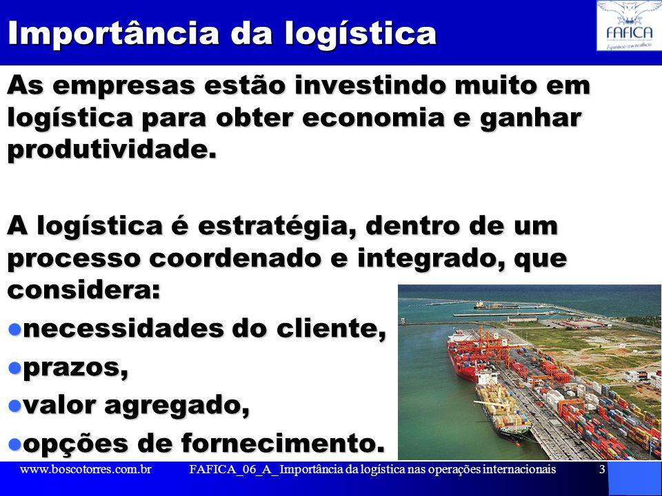 Importância da logística