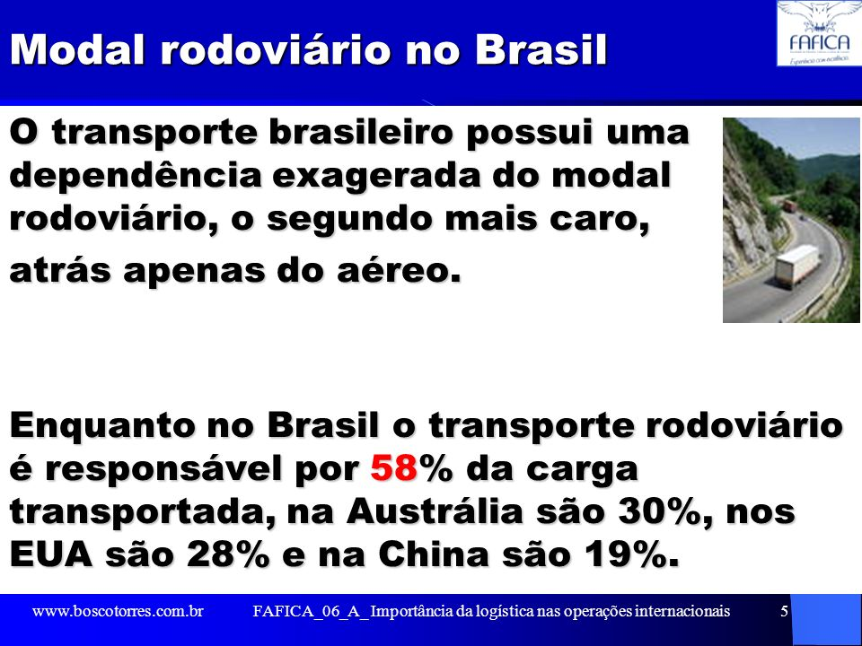 Modal rodoviário no Brasil