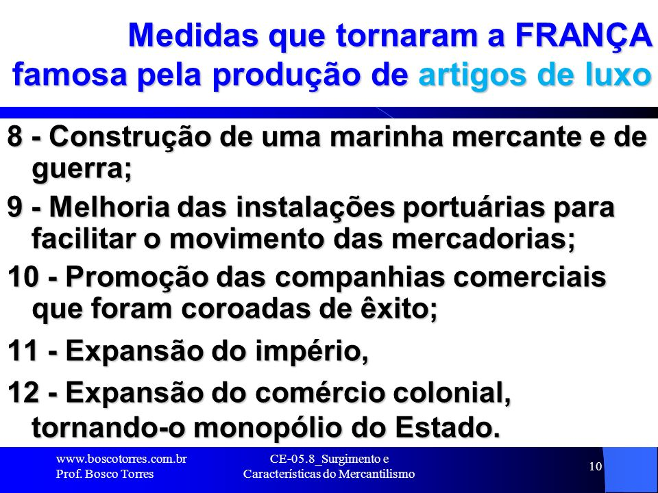 Medidas que tornaram a FRANÇA famosa pela produção de artigos de luxo
