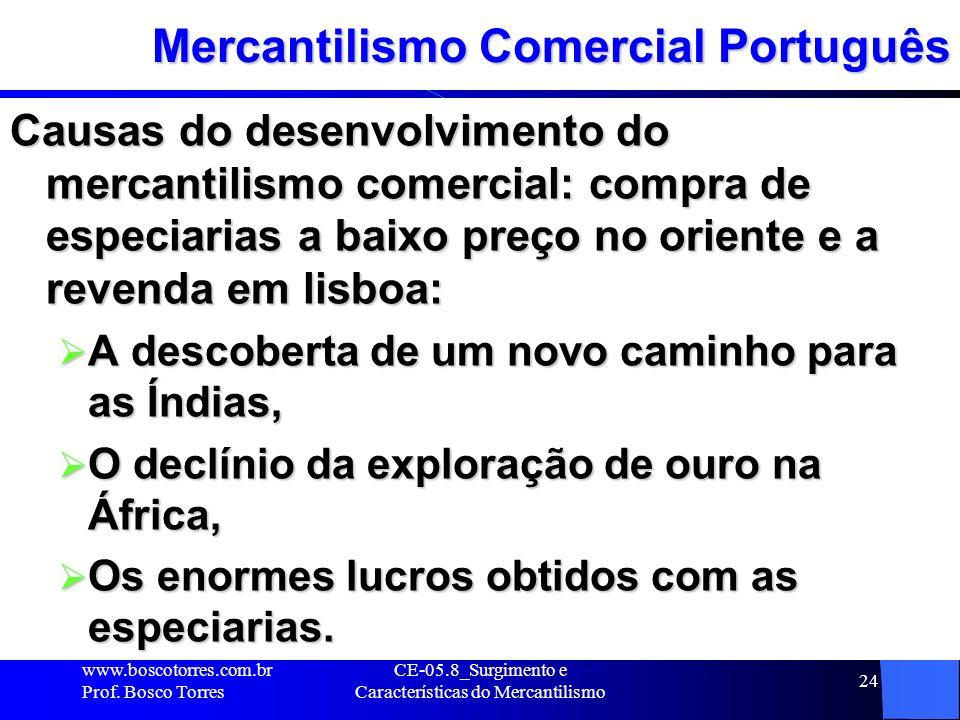 Mercantilismo Comercial Português