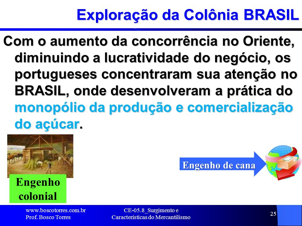 Exploração da Colônia BRASIL