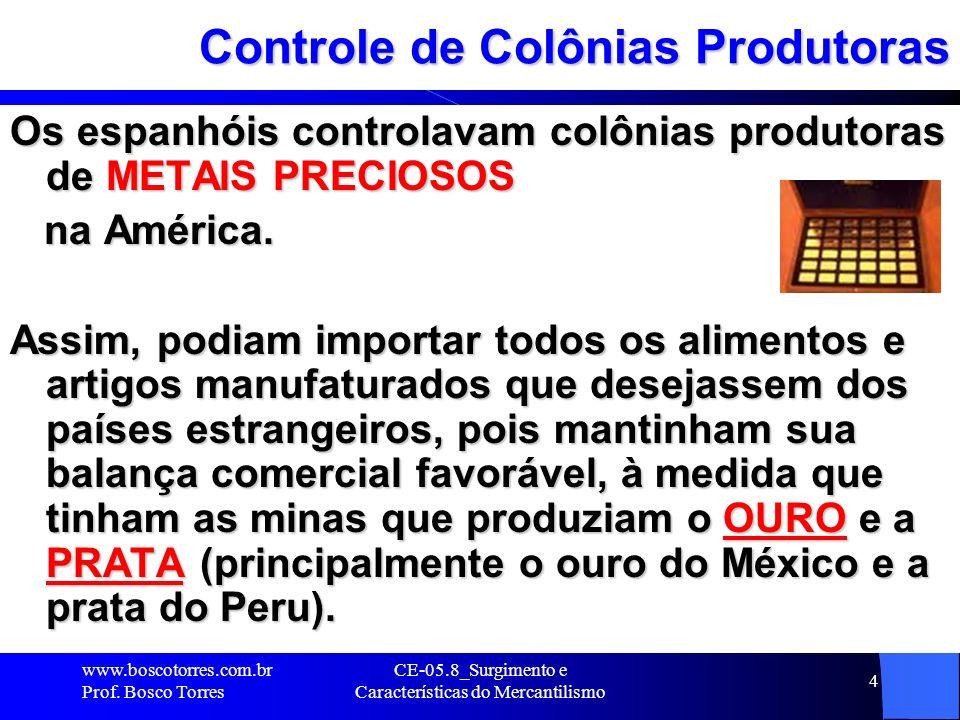 Controle de Colônias Produtoras