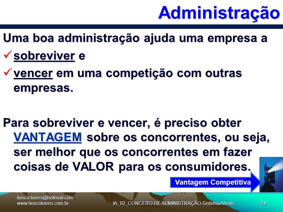 IA_02_CONCEITO DE ADMINISTRAÇÃO-Sistema Aberto