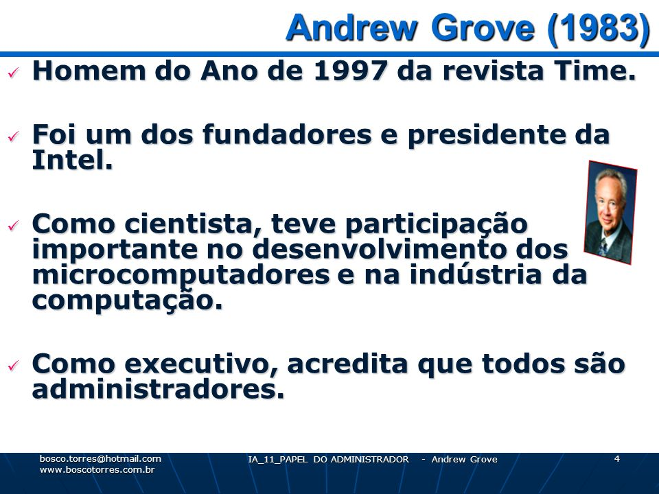 IA_11_PAPEL DO ADMINISTRADOR - Andrew Grove