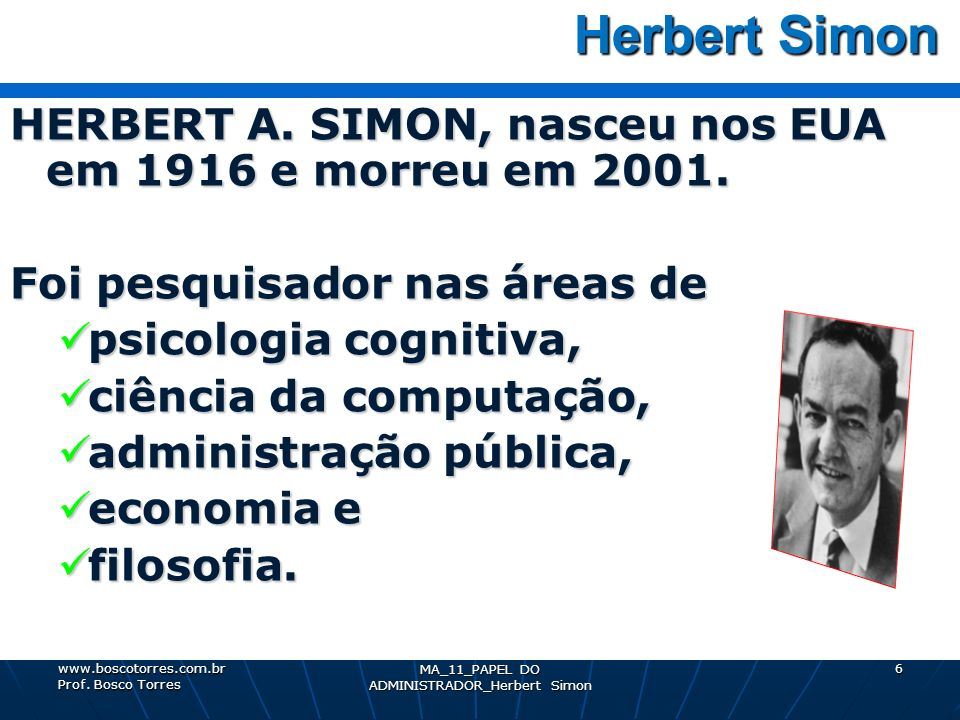 MA_11_PAPEL DO ADMINISTRADOR_Herbert Simon