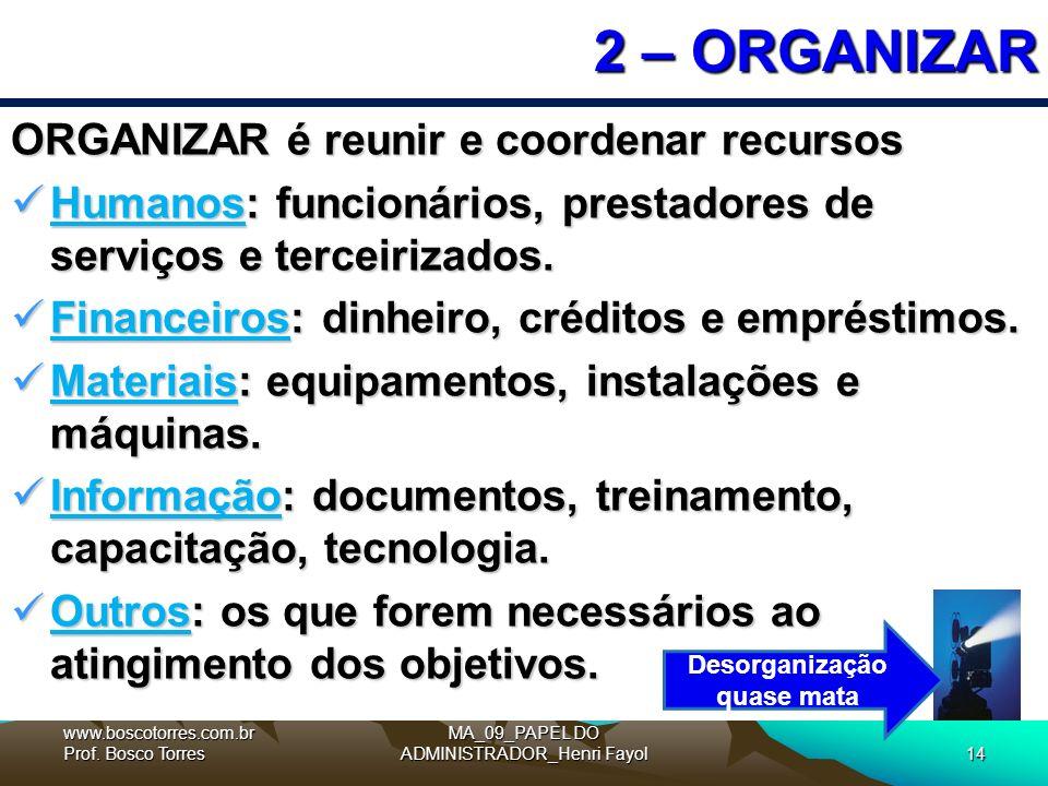 Desorganização quase mata