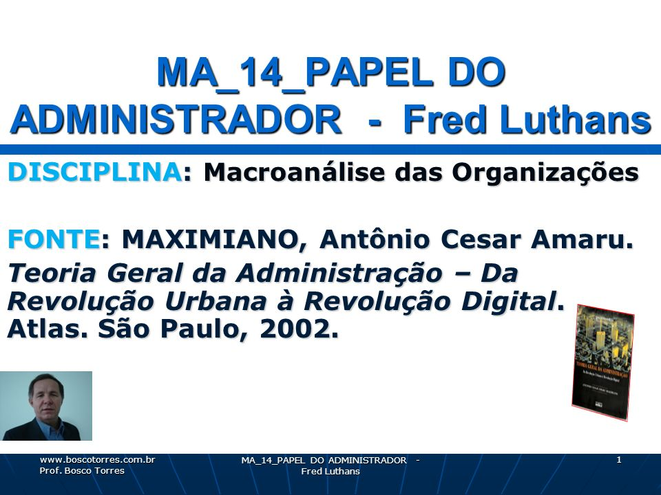 MA_14_PAPEL DO ADMINISTRADOR - Fred Luthans