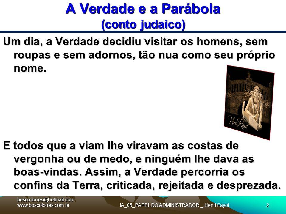 A Verdade e a Parábola (conto judaico)