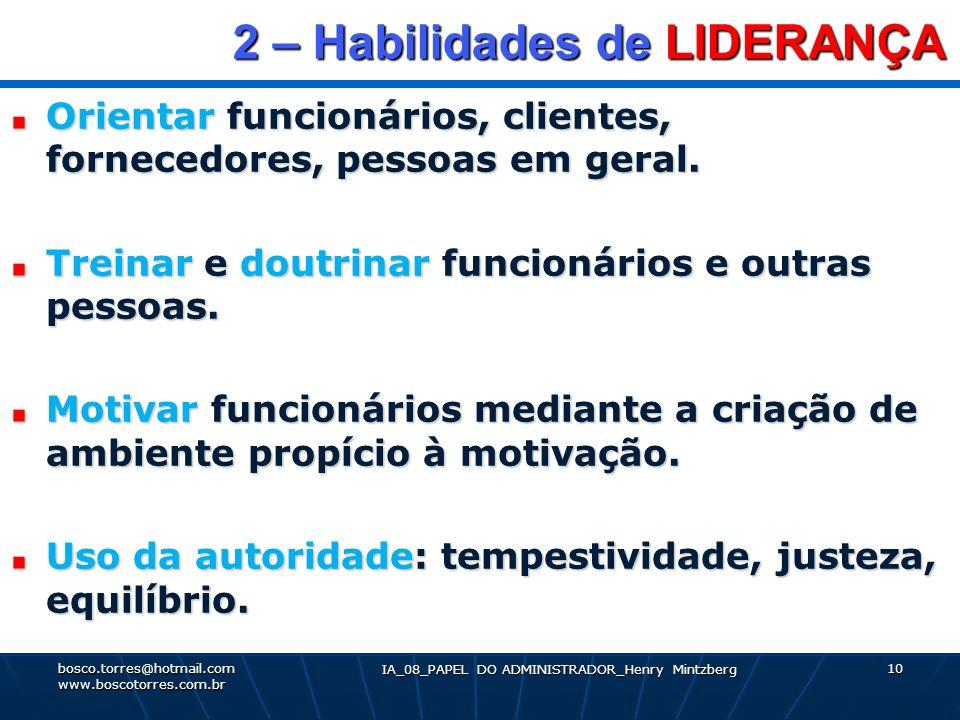 2 – Habilidades de LIDERANÇA