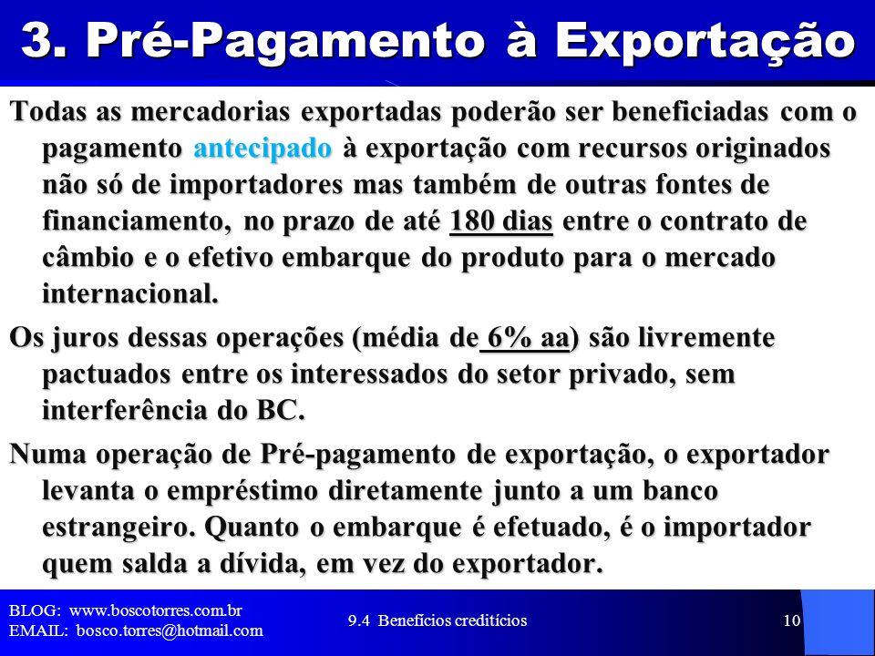 3. Pré-Pagamento à Exportação