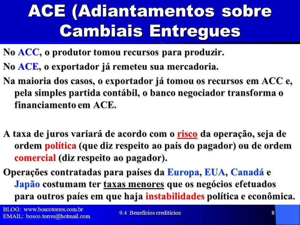 ACE (Adiantamentos sobre Cambiais Entregues