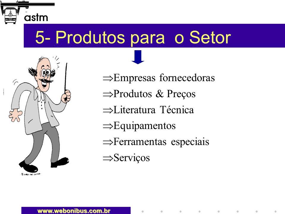 5- Produtos para o Setor Empresas fornecedoras Produtos & Preços