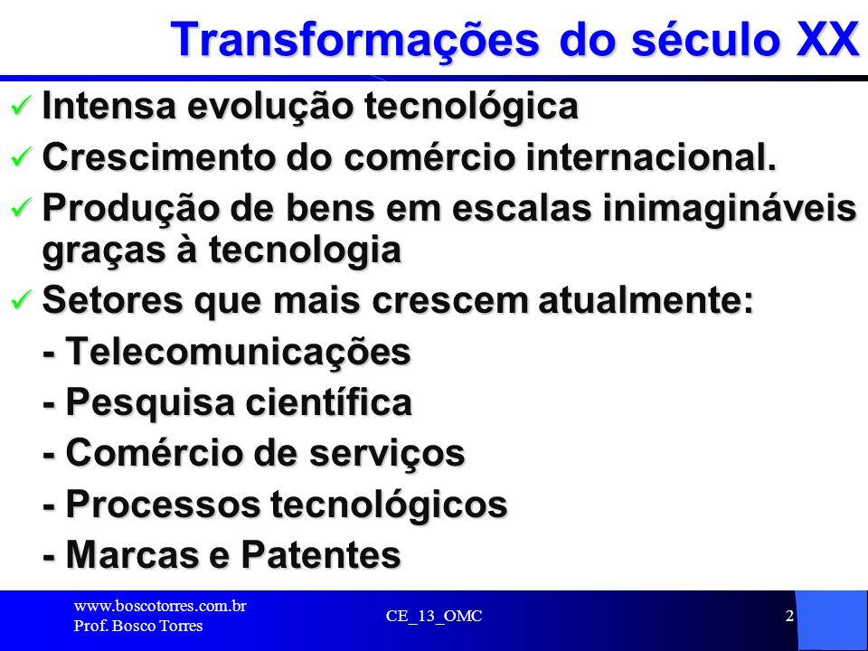 Transformações do século XX