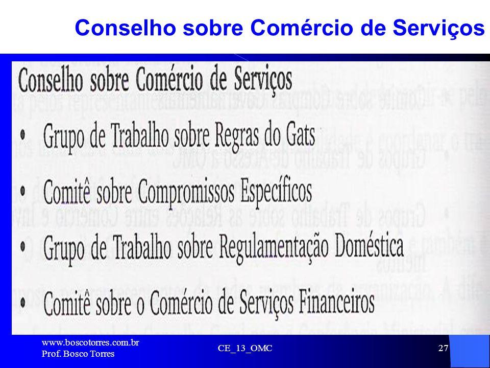 Conselho sobre Comércio de Serviços