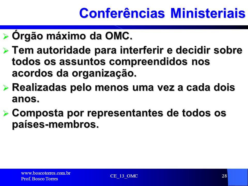 Conferências Ministeriais
