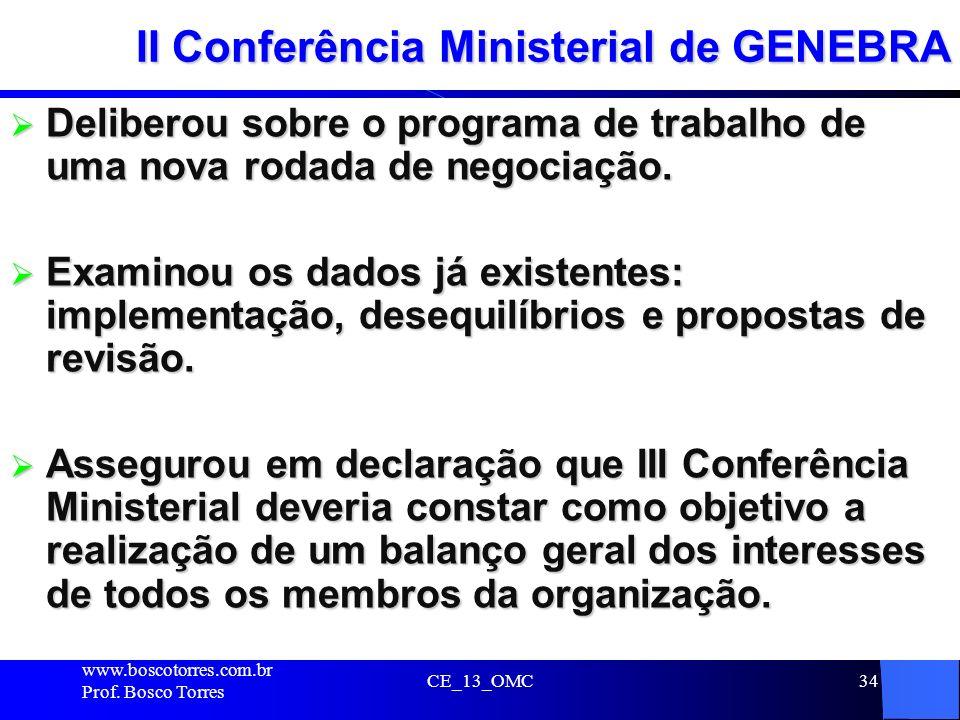 II Conferência Ministerial de GENEBRA