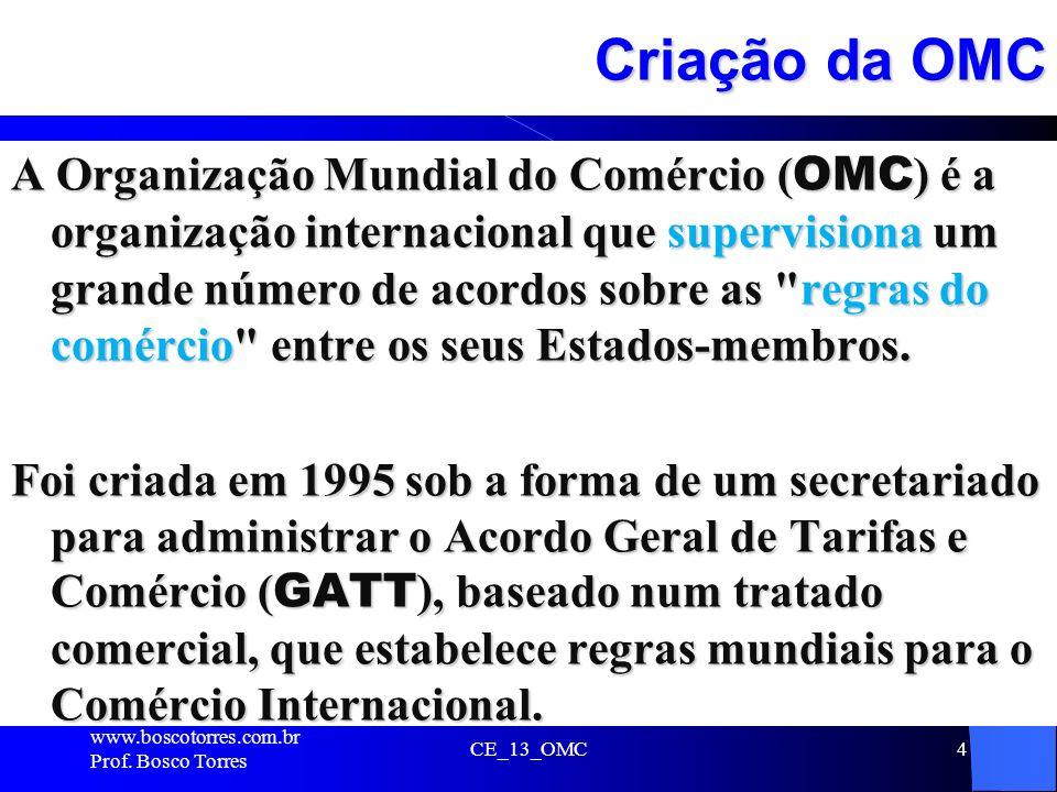 Criação da OMC
