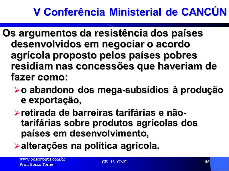 V Conferência Ministerial de CANCÚN