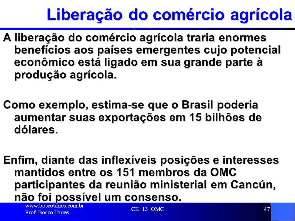 Liberação do comércio agrícola
