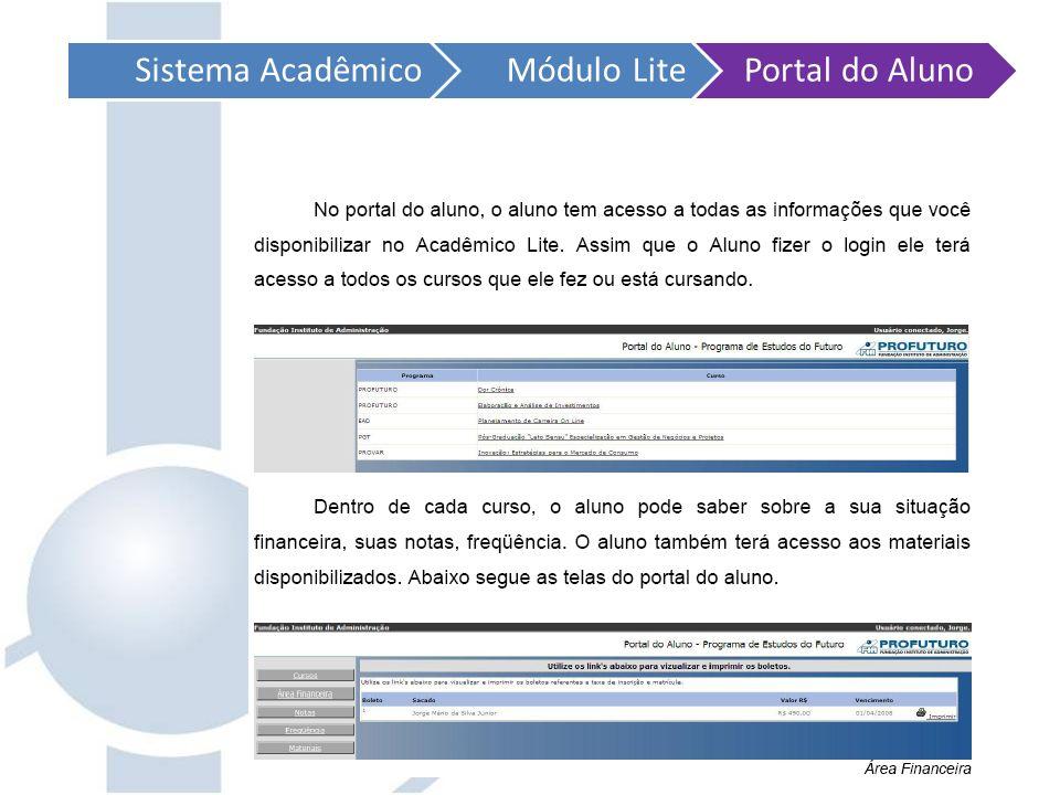 Sistema Acadêmico Módulo Lite Portal do Aluno